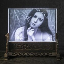 Rectangle Crystal Photo Frame Customized Glass 3d Laser Engraved Picture Frames