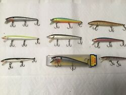 Vintage Rapala And Storm Large Stick Baits. Lot Of 9