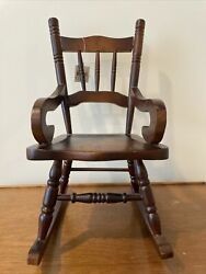 Rocking Arm Chair 12.5 High Quality Wood And Fine Design Lovely Mahogany Color