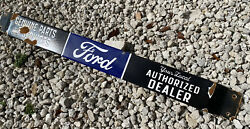 Vintage Porcelain Ford Truck Sign 32andrdquo Door Bar Auto Part Oil Gas Service Tractor