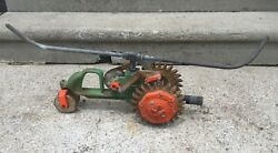 Vintage F.d.kees 101 Traveling Tractor Sprinkler Cast Iron Working Water System