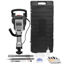 36.6 In. X 16.5 In. Electric Jack Hammer Demolition Power Tool, 2 Chisels, Case