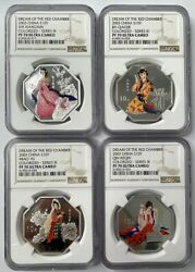 4pcs Ngc Pf70 2003 China 1oz 10yuan Silver Coin Dream Of The Red Chamber Series