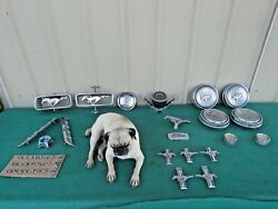 1966-67 Vintage Original Ford Mustang Pony Lot Of Parts And Emblem Collection