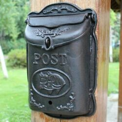 Vintage Cast Iron Horse Head Wall Door Mounted Mail Box Home Letter Handmade Art