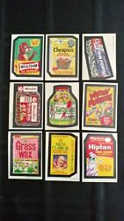 1973 Wacky Packages 4th Series Complete Set Of Stickers With Puzzle.