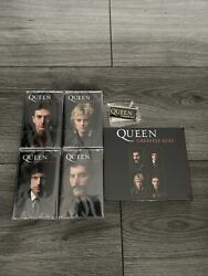 Queen Greatest Hits - Signed Cd And 4 Collectors Cassette Set Bundle 1000 Only✅