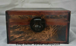 14.4 Antique Chinese Dynatsy Huanghuali Wood Carved Storage Box Chest Container