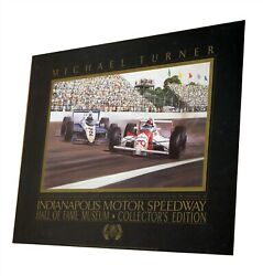 Indianapolis Motor Speedway Hall Of Fame Museum Michael Turner Poster 28 X 22