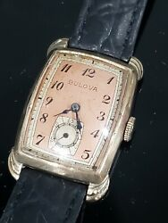 Bulova Cal. 8ae 1942 Senator Gold Plated Mens Vintage Watch Working Excellent