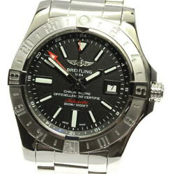 Breitling Avenger Ii A32390 Gmt Black Dial Automatic Menand039s Watch_567315