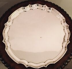 Large Quality Silver Plate Epns Drinks Tray Or Salver Made In England