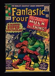 Fantastic Four 25 Fn - 2nd Appearance Of Captain America - Hulk Vs Thing