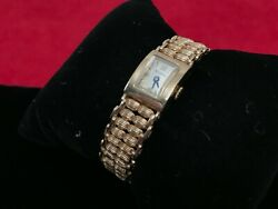 Vintage Bulova 14k Solid Gold Yellow Ladies Watch 1950and039s 18.3 Dwt/28.46 Grams