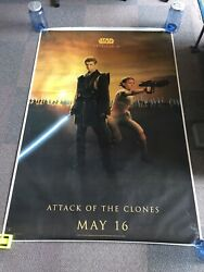 Cinema Poster Star Wars Attack Of The Clones Anakin Skywalker And Padme