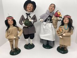 Byersand039 Choice The Carolers Pilgrims And Native Americans 4 Pieces 1997/1998