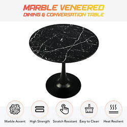 Modern Round Dining Table Artificial Marble Coffee Table W Tulip Pedestal