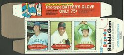 Vintage 1971 Bazooka Willie Mays Box - With Hundley And Hunter - Complete