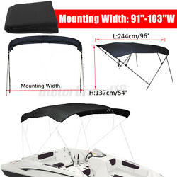91-103 4 Bow Boat Pontoon Bimini Top Replacement Canvas Cover 8ft No Fram