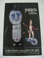 1980 Corcoran Gallery Of Art Puppets Entertainment Display Poster Rare