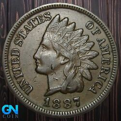 1887 Indian Head Cent Penny -- Make Us An Offer K5524