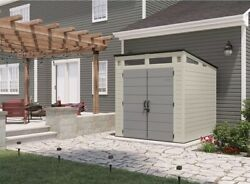 Suncast Large Outdoor Modernist Resin Storage Shed 7' X 7' Easy Assembly