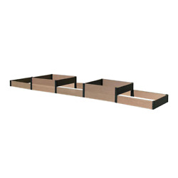 38 In. D X 14 In. H X 184 In. W Brown And Black Composite Board And Steel Terrac