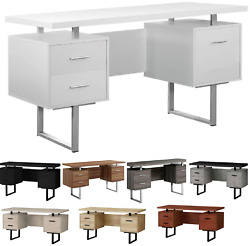🆕 Monarch Specialties 60-inch Modern Home Office Computer Desk And Drawers 🌈