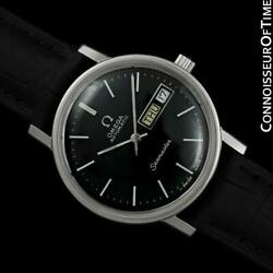 1976 Omega Seamaster Mens Automatic Day And Date Ss Steel Watch - Mint W/ Warranty