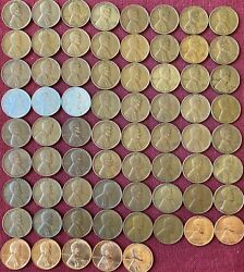 Lincoln Wheat Cents P/d/s - Complete Set Of 69 Coins-1935 - 1958 Very Good To Bu
