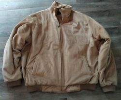 Sean John Jacket Tan Soft Outer Shell Quilted Inside Size Xxl Jacket