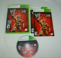 Xbox 360 WWE 2K14 game complete w case amp; manual tested working 2013 2K