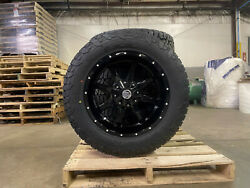 20x10 Black A2 Offroad Mo970 Wheels 33 Fuel At Tires 8x170 Ford Excursion F350