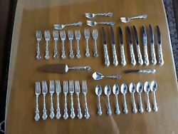 Strasbourg By Gorham Sterling Silver Flatware Place Size Set 8 Service 40 Pieces
