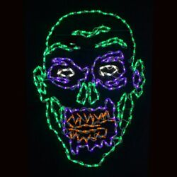 Halloween Scary Zombie Face Light Display Led Yard Art Outdoor Decoration