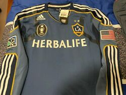 Adidas Los Angeles Galaxy 2012 Match Jersey 10 Player Issue Techfit Powerweb Mls