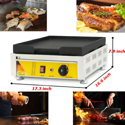 17.317 Inch Commercial 110v Countertop Electric Griddle Flat Grill Teppanyaki
