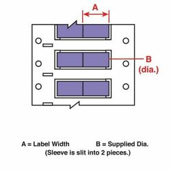 Brady Ps-250-150-vt-2 3/4 X 7/16 Violet Wire Marking Sleeves