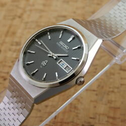 Seiko King Quartz 5856-8020 Wristwatch Working Product 1977 Used From Japan