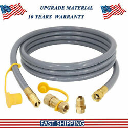 12 Feet 1 2 Id Propane Hose Adapter Quick Connect Fittings Natural Gas