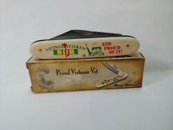Vietnam Veteran And Proud Of It Novelty Knife By Frost Cutlery New Item 4328 D