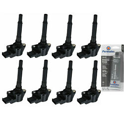 8 Pack Racing Ignition Coil And Grease For 2007-2012 Mercedes-benz 6208cc 6.3l V8
