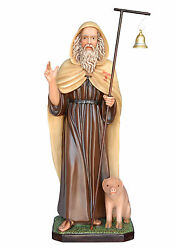 Saint Anthony The Abbot Fiberglass Statues Cm 130 With Glass Eyes