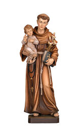 Saint Anthony Of Padoue Statue Wood Carved