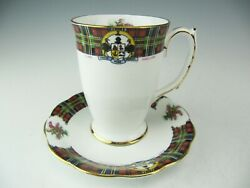 Royal Standard Bonnie Scotland Clan Maclean Tall Cup With Saucer