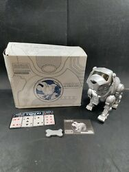 Tekno Interactive Robotic Puppy Dog Silver 90's By Manley Quest W/bone 3476