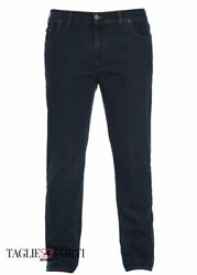 Dark Blue Jeans Plus Size Stretch Trousers For Men Over. Big And Tall. Big Size