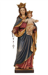 Our Lady Of The Rosary Statue Wood Carving