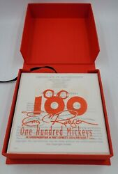 One Hundred Mickeys 100 Lithographs By Eric Robison = Set 487 Of 1000 New In Box