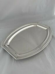 Large Art Deco Antique Silver Drinks Tray Or Platter 1949 London 984 Gm Sterling